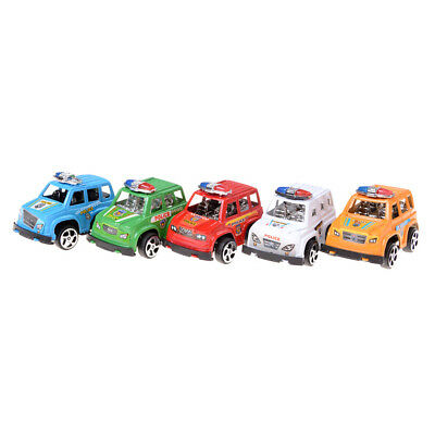 2pcs Plastic Pull Back Diecasts Toy Vehicles Cars Children Toys Gift Police Car