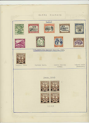SAMOA-STAMP COLLECTION-CLASSIC OLDER-OVER PRINTS-SOME BETTER Stamps.