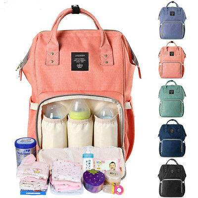 Ergo Diaper Bag Backpack Waterproof Baby Nappy Bottle Holder Large Changing Baby