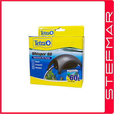 Tetra Air Pump Whisper Model 60  - Single Outlet Very Quiet AirPump Aquarium