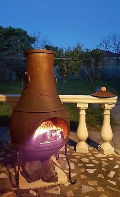 Cast Iron Chiminea with a lid & cover