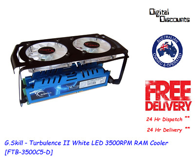 G.Skill - Turbulence II White LED 3500RPM RAM Cooler [FTB-3500C5-D]