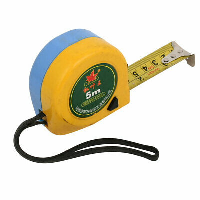 5M 16.4Ft Length Retractable Ruler Thumb Lock Measure Tape Measuring Tool