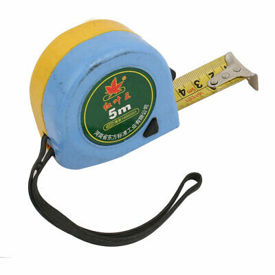 5M 16.4Ft Long Retractable Ruler Thumb Lock Measure Tape Measuring Tool