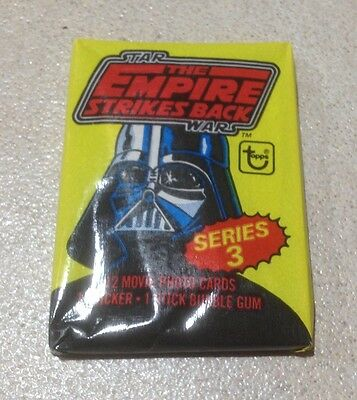 """1980 Topps """"The Empire Strikes Back - Series 3"""" - Wax Pack (Fan Club Variation)"""
