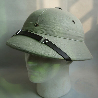Gray Safari Pith Hat Jungle Hunter Explorer Helmet Fancy Dress Film Play Props