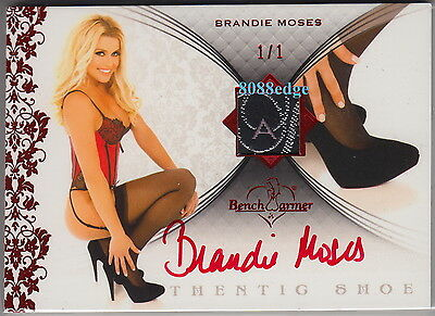 2012 Benchwarmer Holiday High Heel Auto: Brandie Moses #1/1 Of One Red Autograph