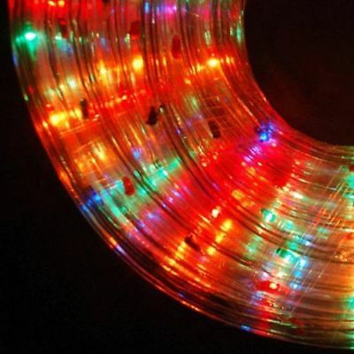 NEW 10M Multicolour Led Rope Light Indoor Outdoor Christmas Xmas Garden Flash