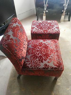 Signature style chair and footstool