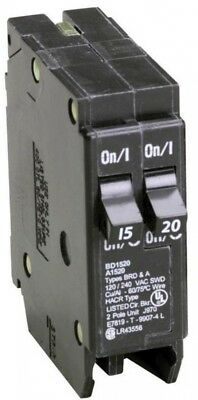 Tandem Circuit Breaker 20-Amp 2-Pole 120-Volts Single Phase Black 1-In 1 Piece