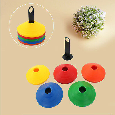 Football Sports Training Disc Boundry Marking Cones Assorted Colour Set Of 50pcs