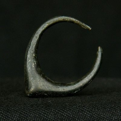 PREMIUM ! ANCIENT Copper EARRING - 29 mm LONG - SAHARIAN Chalcolithic