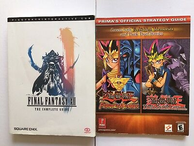 Yu-Gi-Oh and Final Fantasy XII Strategy Guide Books
