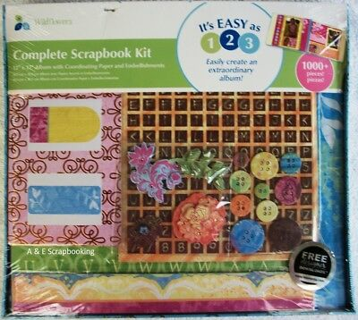 Wild Flowers Complete Scrapbook Kit 12x12 by MyMomenta - 1000+ pieces