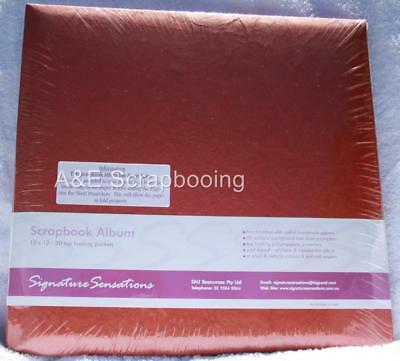 Signature Sensation 12x12 Light Red Post Bound Album