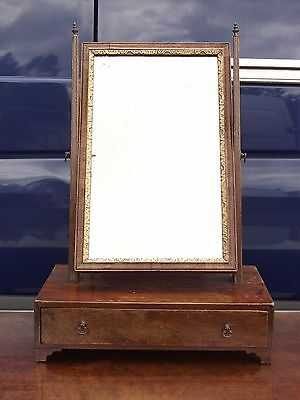 Antique Victorian Mahogany Dressing Table Mirror, with 1 drawer,Tilting,Finials
