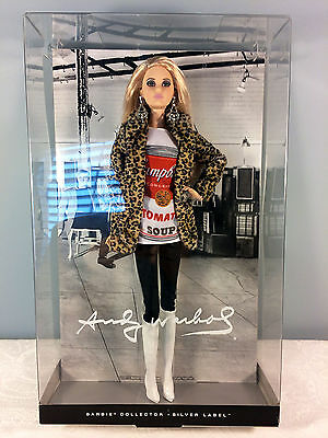 2016 Andy Warhol Barbie Doll - Silver Label - Campbell Soup - Mint NRFB