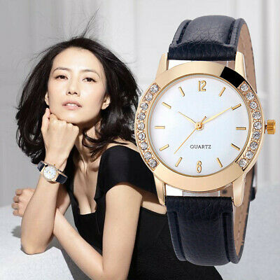 Fashion Women's Watch Luxury Diamond Analog Leather Quartz Wrist Watches Gift