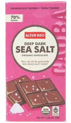 ALTER ECO Choc Dark Sea Salt 80g