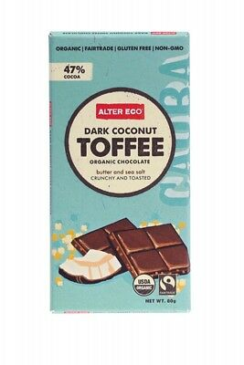 ALTER ECO Choc Dark Coconut Toffee 80g