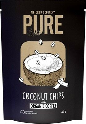 PURE FIELDS Coconut Chips Coffee 40g