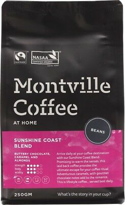 MONTVILLE COFFEE Coast Beans 250g