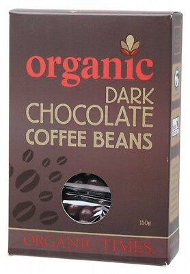 ORGANIC TIMES Dark Choc Coffee Bean 150g