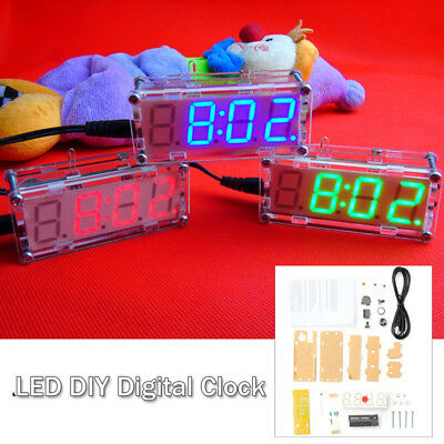 4-Digit LED Digital Electronic Micro Controller DIY Kits Clock Time Thermometer