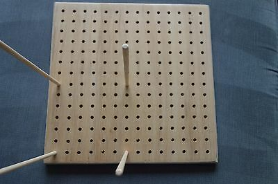 CROCHET BLOCKING BOARD 300 mm x 300 mm  , with 16 dowel rods , NEW made to order