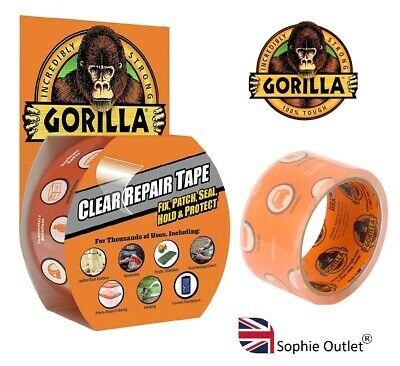 GORILLA TAPE Gorilla Clear Repair Tape 8.2m x 48mm Leather Wet Surface Camping