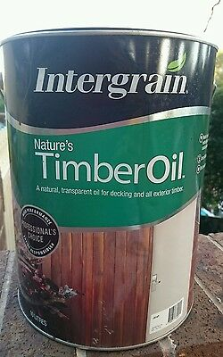 SAVE up to $29! 4L Intergrain Natures Timber Oil! Decking Oil RP$98