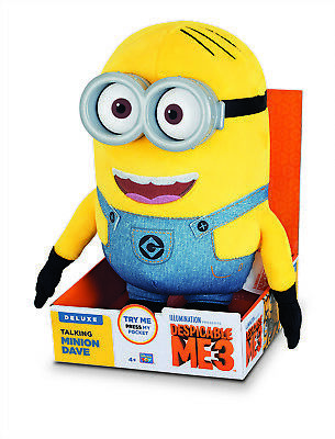 Despicable Me 3 Deluxe Talking Huggable Dave Minion plush! A smart toy for a chi