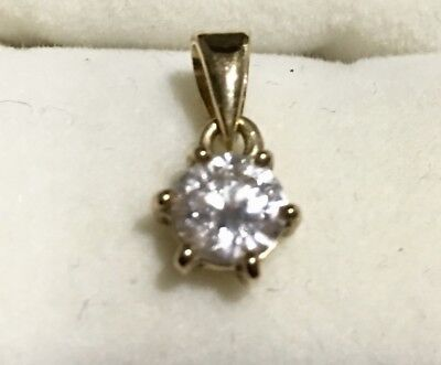 .60 Ct Solitaire Diamond Pendant Set In Solid 18 Kt Yellow Gold
