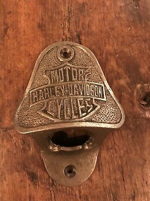 Cast Iron Bottle Opener/Wall Mounted/Heavy/Rustic/Antiqued/HARLEY DAVIDSON
