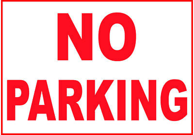 LARGE NO PARKING Sign Extra Thick 3 - 5mm PVC  Plastic **FREE UK POST**