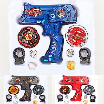 4D Metal Master Fusion Beyblade Rare Rapidity Launcher Grip Set Battle Game Toy