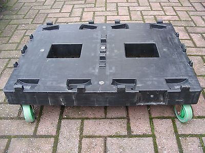 LARGE TROLLEY 400kg WHEELS DOLLY STORAGE BOX BOXES CRATE CASTER SKATE HOUSE MOVE