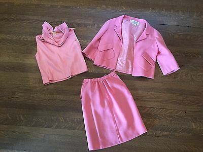 Valentino vintage 1960s Jacket, Top And Skirt Set In Pink - Roma Collection