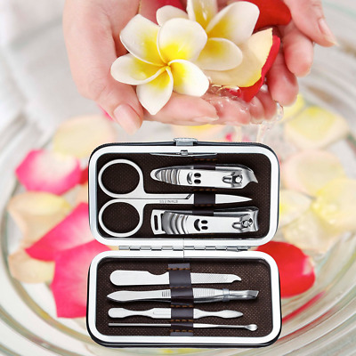 7PCS Pedicure / Manicure Set Nail Clippers Cleaner Cuticle Grooming Kit Case