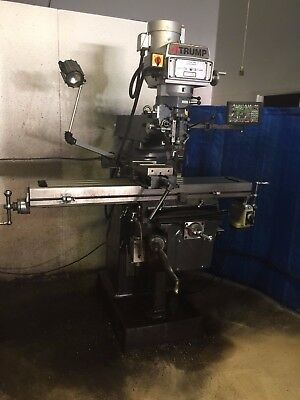Vertical Milling Machine ATRUMP  with Newall DRO- Power Feed -10x54 table