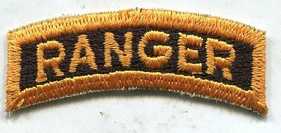 Early Vietnam Era US Army Yellow & Black Ranger Tab Patch Cut Edge