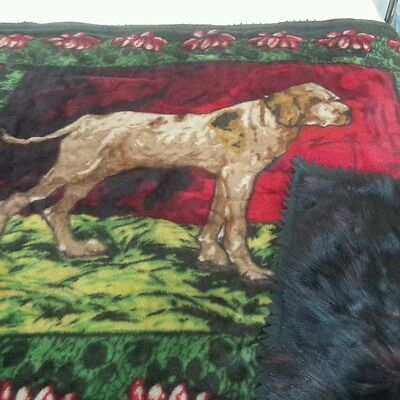 Antique Stroock Horse Hair Bear Leather two sided Sleigh Blanket Americana