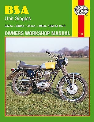 0127 Haynes BSA Unit Singles (1958 - 1972) Workshop Manual