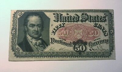 1875 US Fractional Currency - 50 Cents, William H. Crawford - Circulated