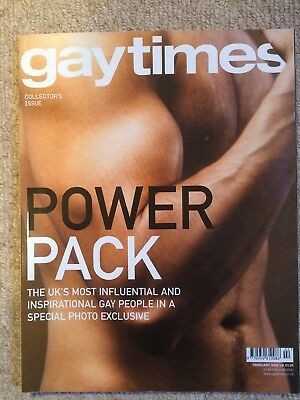 Gay Times Magazine GT 329 FEB 2006 POWER PACK INFLUENTIAL GAY PEOPLE PHOTO EDTN