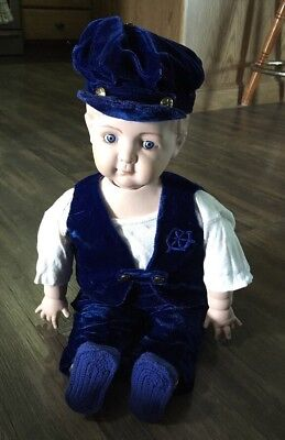 Vintage Doll Bisque/porcelain Head Body Arms Legs  Made In Usa