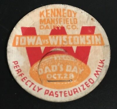 Iowa vs. Wisconsin Football Oct. 28 Dad's Day Kennedy Mansfield Dairy Milk Cap