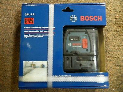 BOSCH 5 Point Self Leveling Alignment Laser GPL 5R BRAND NEW FREE SHIPPING