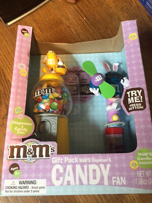 M&M's CHARACTERS &  BUNNY EARS GIFT PACK DISPENSER AND CANDY FAN