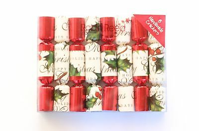 Robin Reed H7 Christmas Holiday 8pc Party Crackers – Bows & Berries 128